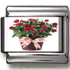 Basket of Roses Charm