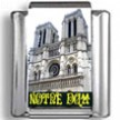 Black & White Notre Dame Cathedral Landmark Photo Charm