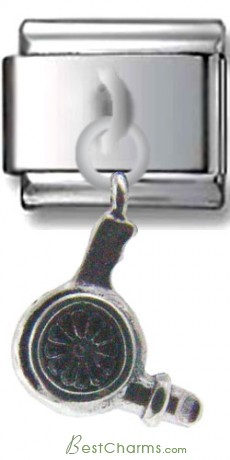 Blow-dryer Dangle Sterling Silver Charm