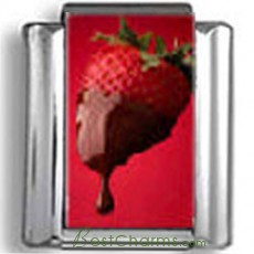 Chocolate covered Strawberry Photo Charm