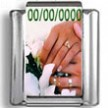 Custom Hands in Marriage Date Photo Charm