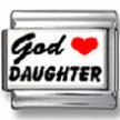 God Heart Daughter Photo Charm