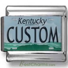 Kentucky License Plate Custom Charm
