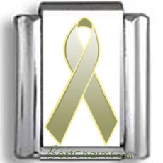 Olive Green Awareness Ribbon Photo Charm