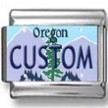 Oregon License Plate Custom Charm