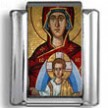 Religious Mosaic Icon Photo Charm