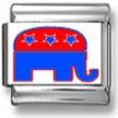 Republican Elephant Photo Charm