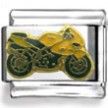Speed Motorcycle Enamel Charm