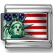 Statue of Liberty w/ USA Flag Photo Italian Charm
