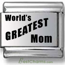 World's Greatest Mom Laser Charm
