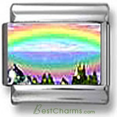 Abstract Rainbow Landscape