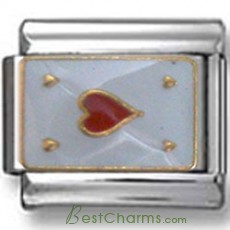 Ace of Hearts Italian Charm