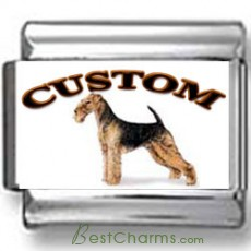 Airedale Terrier Dog Custom Photo Charm