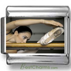 Ballerina Stretching Photo Charm