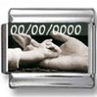 Black and White Baby and Parent's Hands Custom Photo Charm