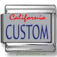 California License Plate Custom Charm