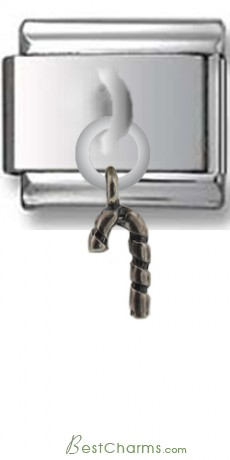 Candy Cane Sterling Silver Italian Charm