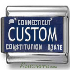 Connecticut License Plate Custom Charm 2
