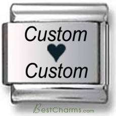 Custom Loves Custom Laser Charm