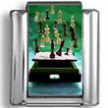 Floating Chess Pieces Photo Charm