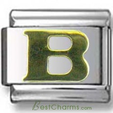 Gold Puffy B Letter