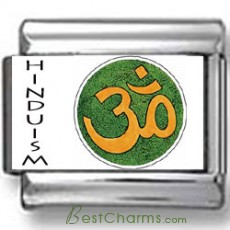 Hindu OM Symbol Photo Charm