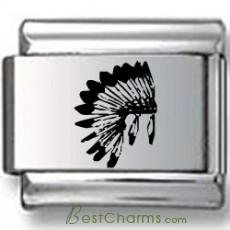 Indian Headdress Laser Charm