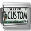 Maine License Plate Custom Charm 2