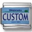 Minnesota License Plate Custom Charm