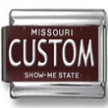 Missouri License Plate Custom Charm 2