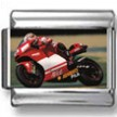 Motorcycle Racer Photo Charm