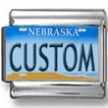 Nebraska License Plate Custom Charm