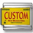 New Mexico License Plate Custom Charm