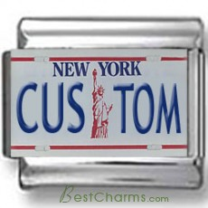 New York License Plate Custom Charm