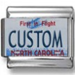 North Carolina License Plate Custom Charm