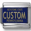 Pennsylvania License Plate Custom Charm