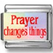 Prayer Changes Things Photo Charm
