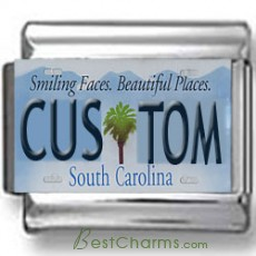 South Carolina License Plate Custom Charm