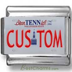 Tennessee License Plate Custom Charm